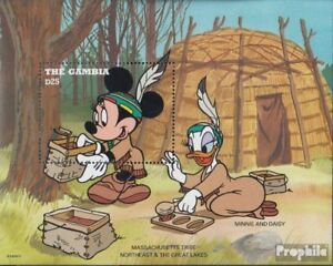 Never Hinged 1995 Walt-disney Special Summer Sale Unmounted Mint Spirited Gambia Block271 complete Issue