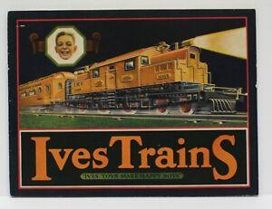 Original-1927-Ives-Train-Catalog-w-Color-Cover-brown-Rotogravure-Inside-Exc-Cond