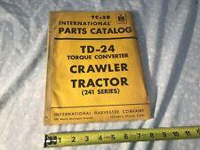 International Harvester Tc 58 Crawler Tractor Td 24 Parts Manual Catalog 1956