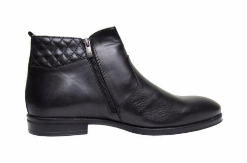 Herren Boots echtes Leder Gefüttert Schwarz Gr.41