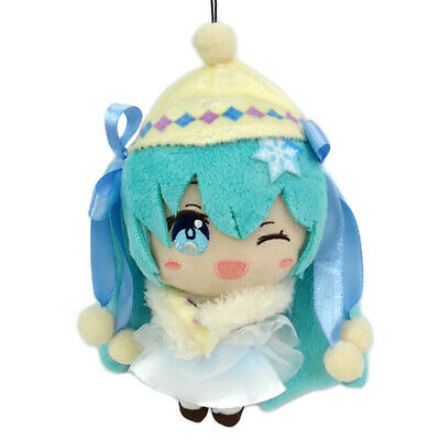 "Vocaloid Hatsune Miku Autumn Winter Winking 5/"" Mascot Plush Keychain TAI51500 US"
