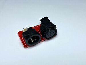 5 pin DMX socket PCB. Stock in Australia.