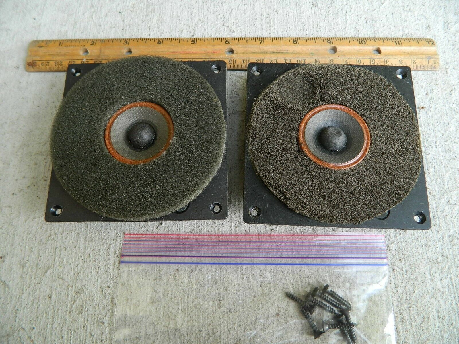 s l1600 - JBL L100 Century 2 Speakers 1 PAIR High Frequency Tweeters LE25 8 OHMS USA