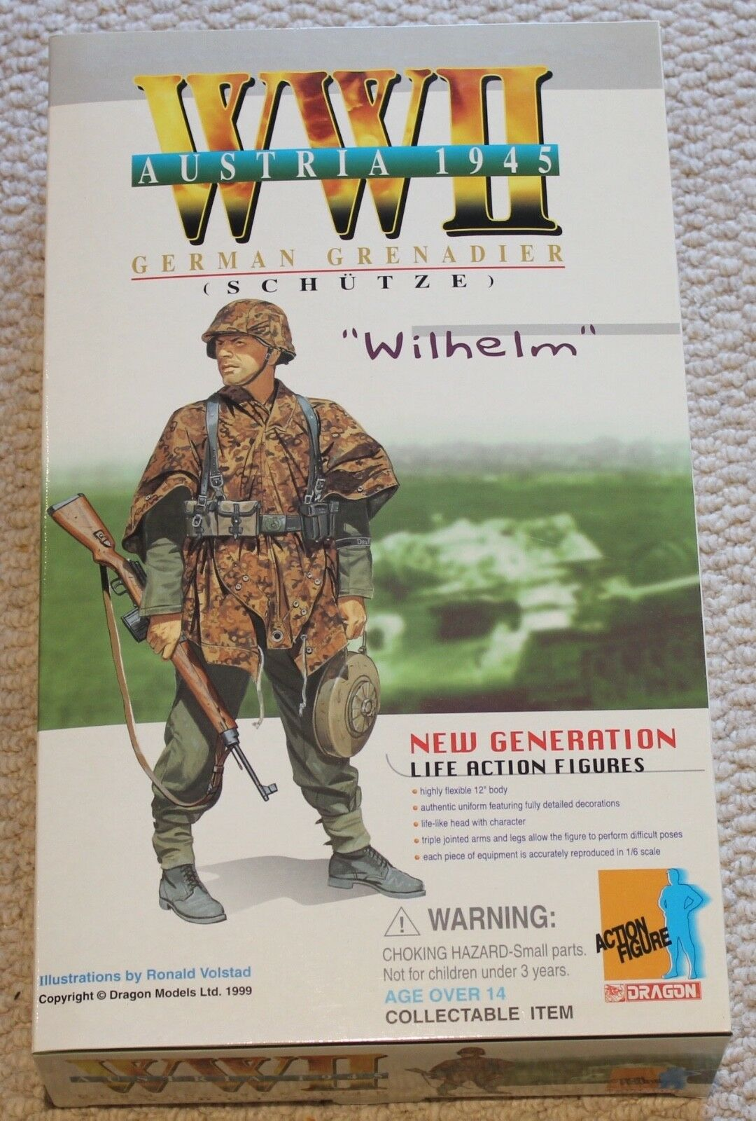 Dragon action figure 1 6 ww11 german wilhelm 12'' boxed did cyber hot toy