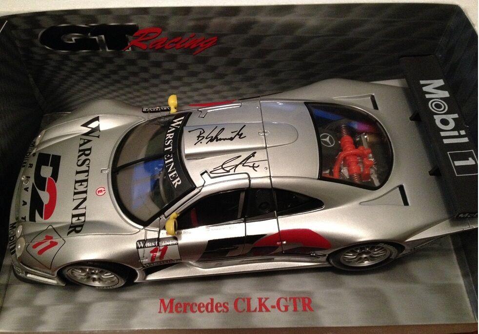 1 18 Maisto Mercedes CLK GTR Autograph Schneider RAR