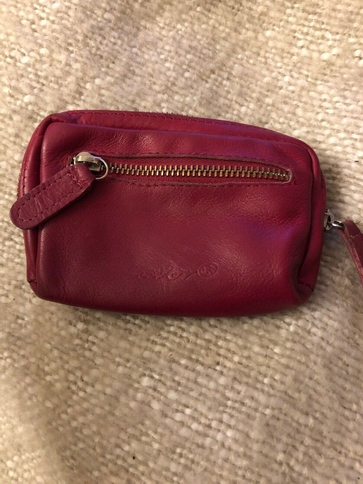 Lavor Small Purse Leather, Pink Used
