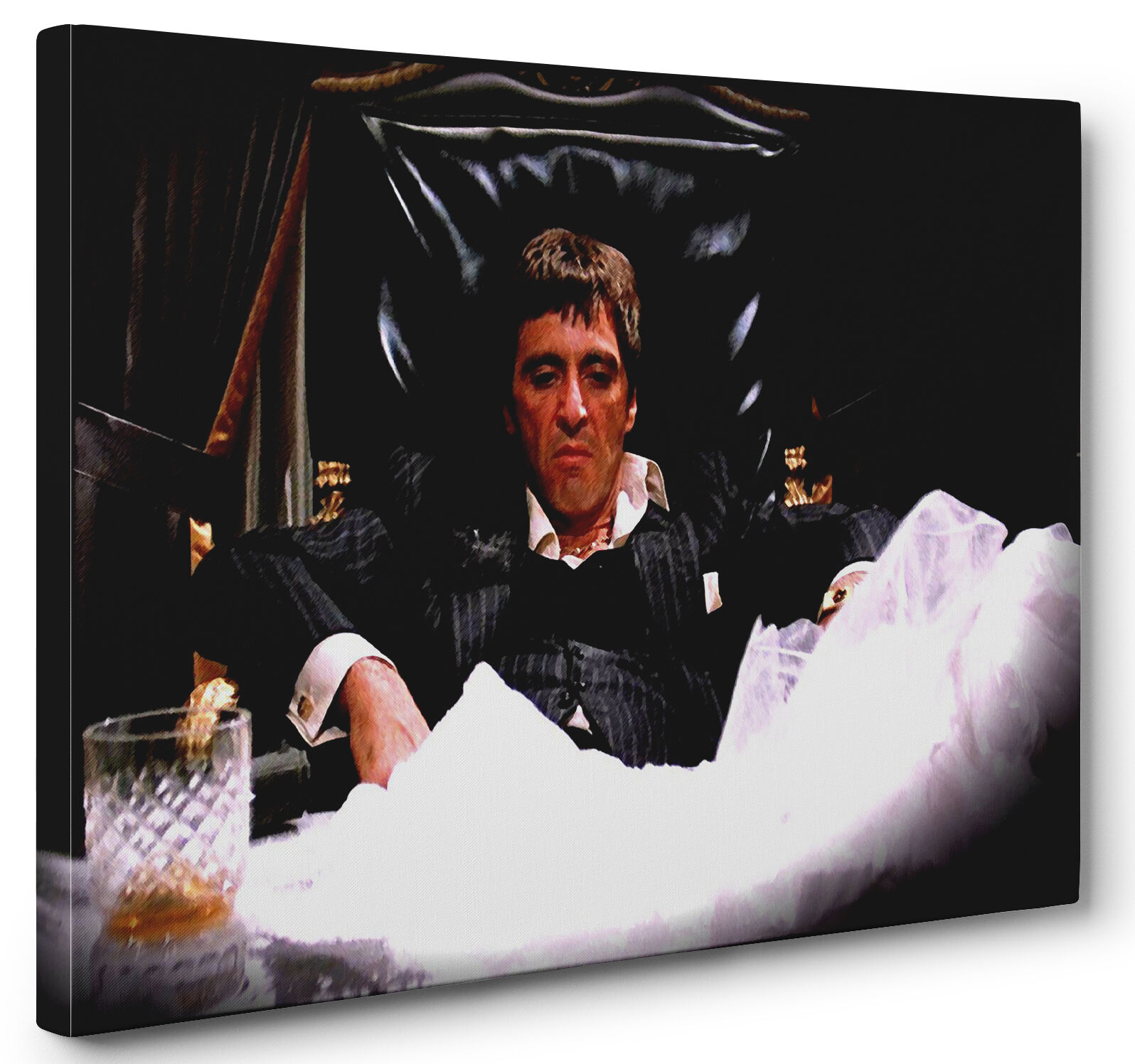 Scarface Al Pacino Gallery Wrapped Canvas Wand Kunst (Ready To Hang)