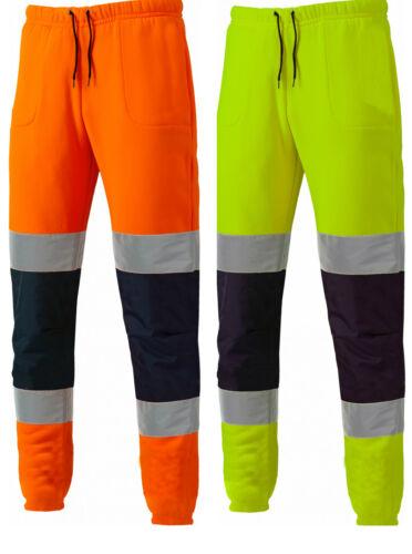 New Men/'s Designer Dickies Hi Vis Work Safety Joggers Jogging Bottoms SA2008