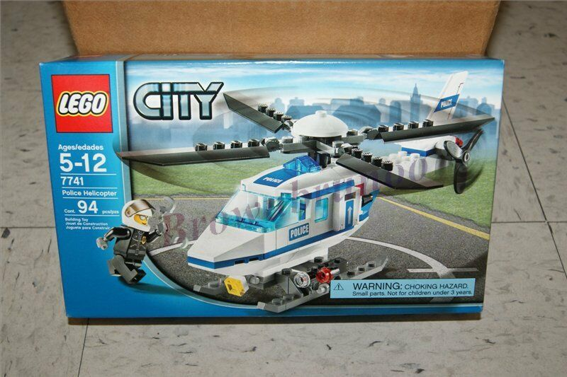 LEGO 7741 City Police Helicopter w/ Mini Figure 94 Pcs Building Toy NEW