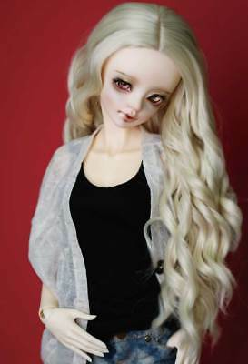 New Black+White Double tail curls Wavy Hair Wig For 1//3 1//4 1//6 BJD Doll FBE-032