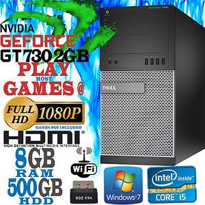Dell-Quad-Core-i5-Videojuego-Torre-Pc-Ordenador-8gb-500GB-NVIDIA-730-2GB-HDMI