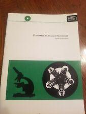 Carl Zeiss Microscope Bookmanual Standard Wl Research Microscope Operating