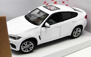 Rastar-1-24-SCALA-DIECAST-MODELLO-AUTO-56600-BMW-X6M-Bianco