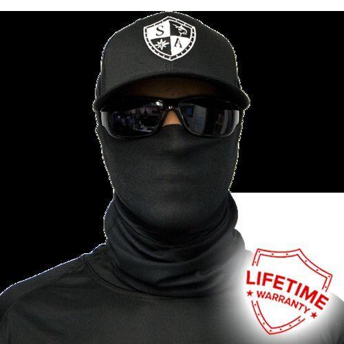 Black Tactical Pattern USA Balaclava Salt Armour SA Face Shield