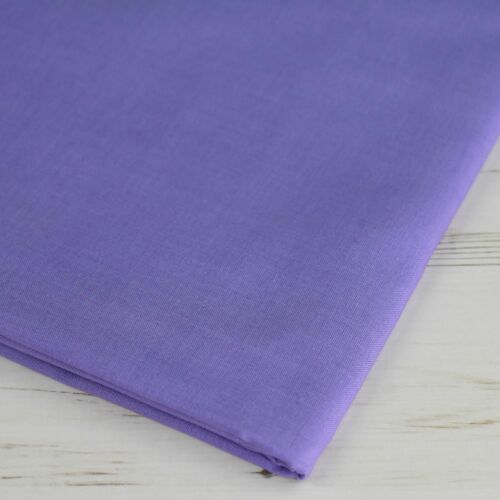"""100/% Cotton Fabric Sheeting Plain Solid Colours Craft Material 60/"""" Wide Per Mtr"""