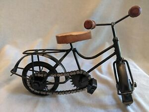 Miniature Bicycle with Movable Chain, Foot Pedals, Wheels & Hand Bars
