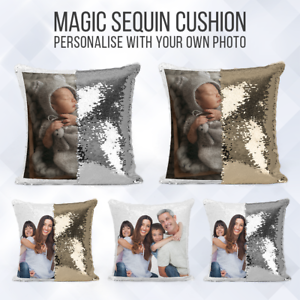 Personalised-Sequin-Cushion-Magic-Mermiad-Photo-Reveal-Pillow-Case-amp-Insert