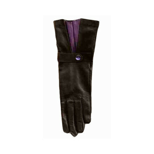Bruno Carlo Black Long Wrist basiques with Purple Fan Détail afficher le titre d'origine