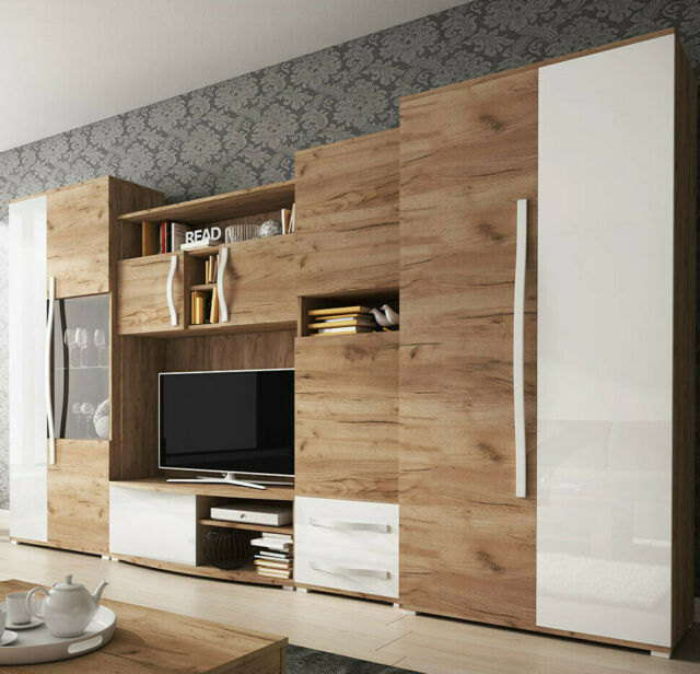 Wohnwand Rotz Tv Lowboard Elegante Anbauwand Mit Kommode Wohnzimmer Modern Neu