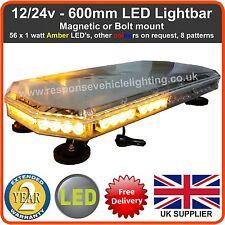 Recuperación de LED ámbar LIGHTBAR Luz Intermitente Faro Camión 600mm 12/24v luces estroboscópicas