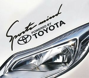 Details About Sports Mind Powered By Toyota Sport Aufkleber Sticker