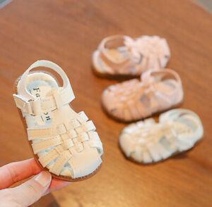 Baby Toddler Infant Kids Girls Casual Summer Closed Toe Anti-slip Beach Sandals