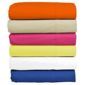 Image Is Loading DOUBLE FITTED BED SHEETS  ELASTICATED AT CORNERS TRUSTWORTHY