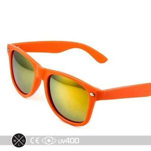 dd7c81cb64 Image is loading Retro-Neon-Orange-Frame-Party-Sunglasses-Fire-Mirror-
