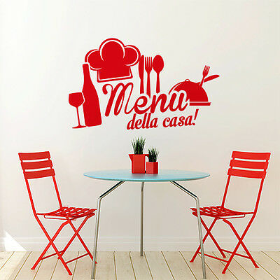 00995 Wall Stickers Sticker Adesivi Murali Decorativi Menu della casa 80x48cm