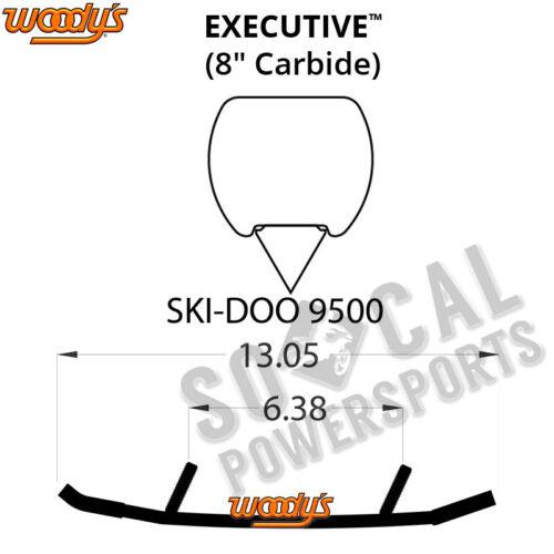 """Woody/'s Executive 8/"""" Carbide Runners Ski Doo Renegade Sport 600 ACE 2012-2017"""
