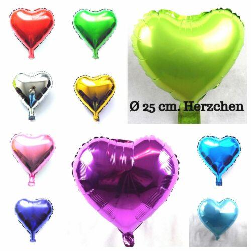 kleines Herzchen Folienballons Valentinstag Überraschung Dek Kein Helium Ballon