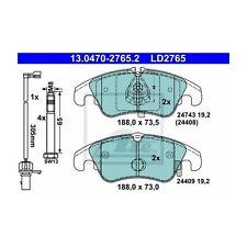 ATE LD2765 Bremsbelagsatz, Scheibenbremse ATE Ceramic  13.0470-2765.2  Vorne