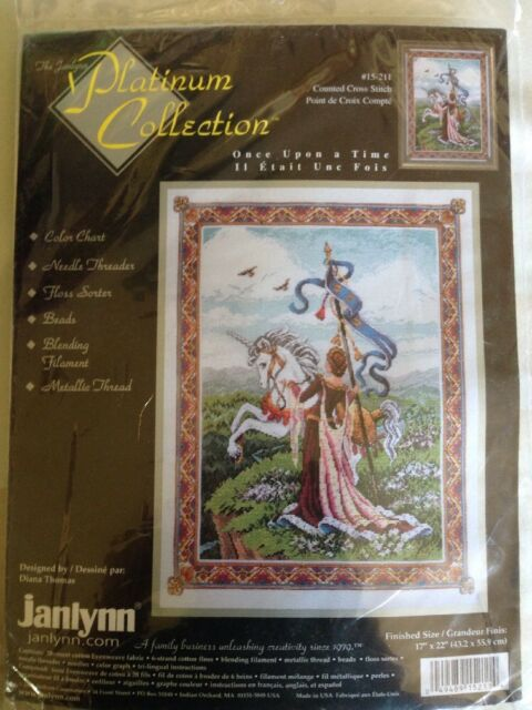 Janlynn Platinum Once Upon a Time counted cross stitch kit, sealed Diana Thomas