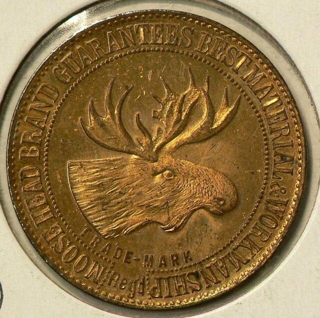 1902 Lower Canada Montreal  Gnaedinger Moose Head Token Unc #9114
