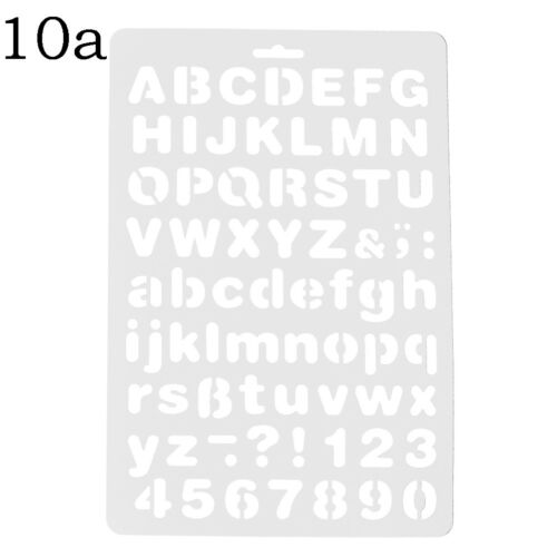 Letter Alphabet Number Layering Stencils Painting Scrapbooking Paper CRSRSDE