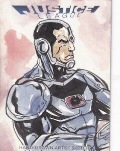 Dc Comics Justice League Sketch Card By Jez Of Cyborg Ebay Find great deals on ebay for justice league sketch. ebay