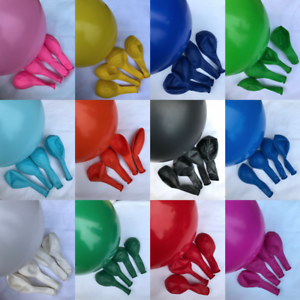 12-034-Balloons-Solid-Colours-Latex-Balloon-Birthday-Celebration-Party-Helium