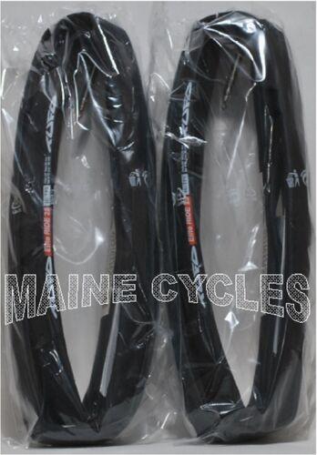 Tufo Elite Ride tubular 700 x 25 all black NEW 2019 WHITE TUFO LABEL 2 tires