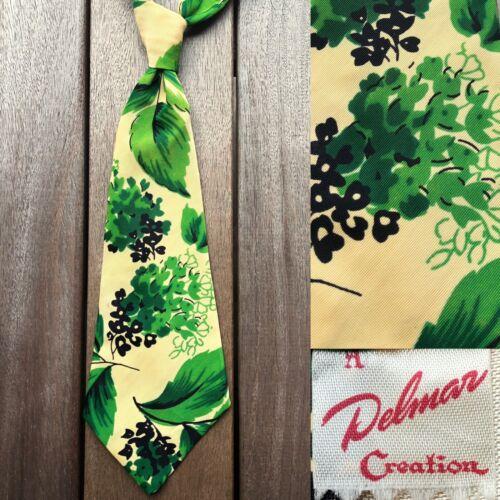 Delmar 'Green Leaves' Aloha Tie EUC VTG 1940s Rayo