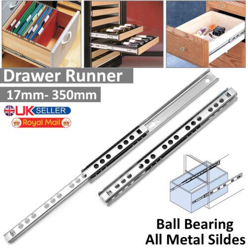 Paire de Lourds Entièrement Extension Roulement à billes tiroir coureurs Diapositive Runner 17 27 mm