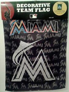 Miami-Marlins-Baseball-Two-Sided-Glitter-Embellished-Decorative-Team-Garden-Flag
