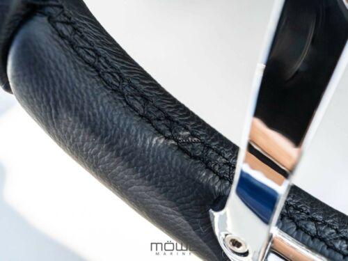 MÖWE Marine Bootslenkrad Havanna Leder schwarz für Maxum Teleflex Ultraflex