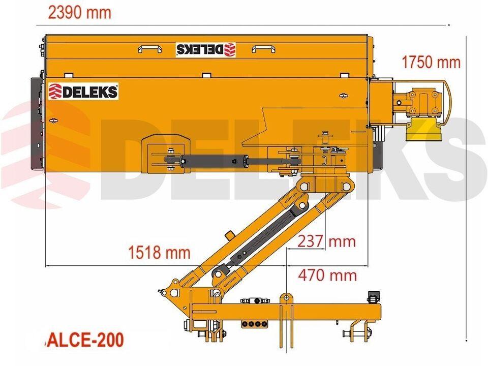 Slagleklipper, DELEKS® ALCE-200-H TUNG KANTKLIPPER TIL