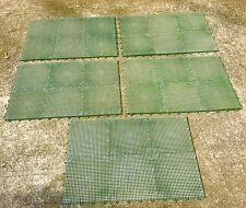 DuraGrid Green Block Tile Deck, Patio Flooring Interlocking Perforated, 30-Pack