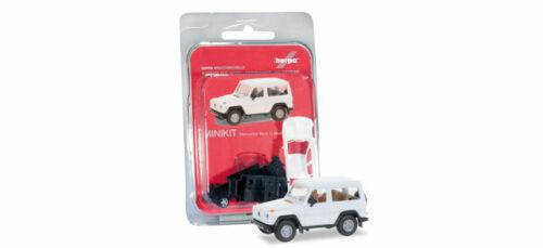Herpa 012645-007 minikit: mercedes-benz G-clase modelo de coche 1:87 blanco h0