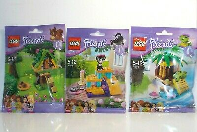 Lego 41017+41018+41019 Animali Friends Scoiattolo,gatto,rana - Friends 5-12anni