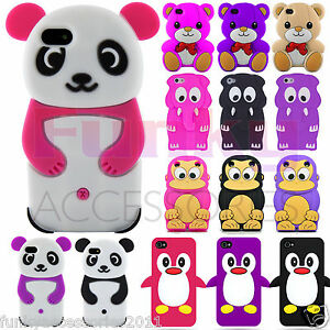 Quality-Funky-Humorous-Soft-Animal-3D-Silicone-Skin-Cover-Case-Cartoon-Cute