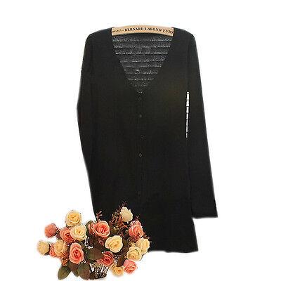 Women Casual Loose Long Sleeve Knitted Sweater Tops.Cardigan Outwear Coat Jacket