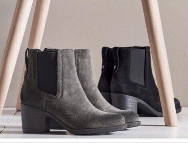 Sam Edelman para mujer botas al tobillo tobillo tobillo tacón de gamuza Tire en tamaños de 7 o 8  Sin impuestos