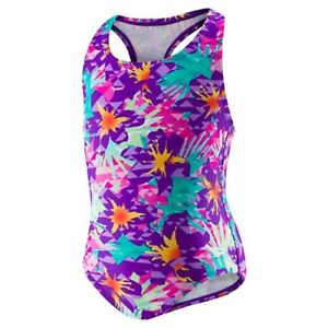 Begin to Swim Toddler Printed Racerback Swimsuit with Snaps  SIZE  12M